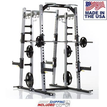 USA Made Tuff Stuff PXLS-7920 Pro-XL Dual Half Rack for Commercial Gyms