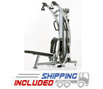 Tuff Stuff SPT-7 Six-Pak Light Commercial Trainer Compact Cable Gym