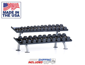 2-Tier Tray Dumbbell Rack