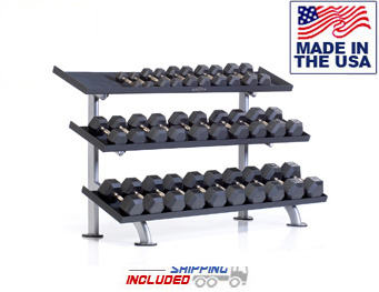 3-Tier Tray Dumbbell Rack