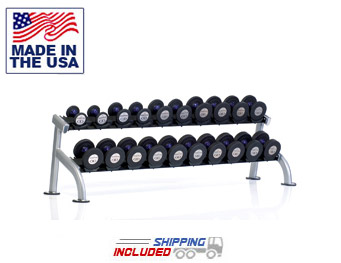 2-Tier Saddle Dumbbell Rack