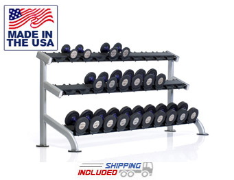 3-Tier Saddle Dumbbell Rack