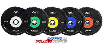 Valor Color Stripe Rubber Bumper Plates