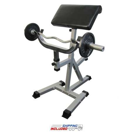 Valor CB-11 Standing Arm Curl Preacher Bench with Pivoting Arm Pad