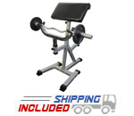 Standing Arm Curl Preacher Bench with Pivoting Arm Pad