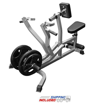 Plate Loaded Seated Row Machine / Chest Pull with Independent Arms