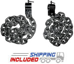 6' Barbell Lifting Chains - 44 lb. Set