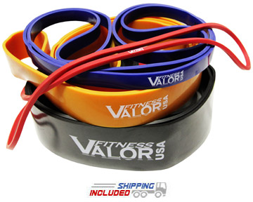 Valor Rubber Strength Conditioning Bands