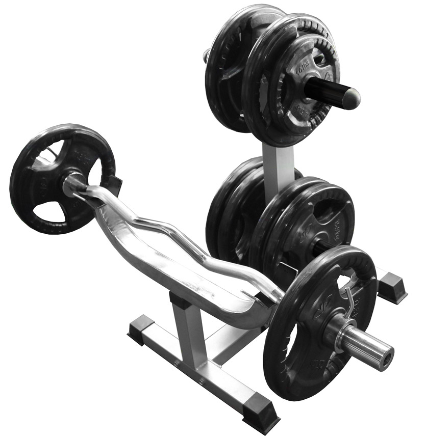Valor Athletics Cb 7 Standing Curl Bar Station With Olympic Plate Storage