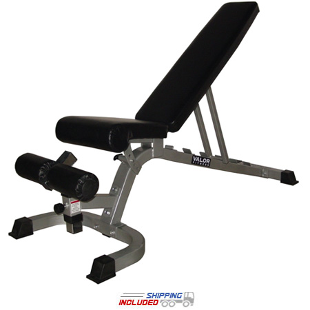 Valor Athletics DD-4 Adjustable FID Utility Bench for Free Weights