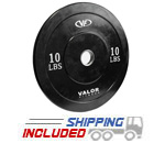 10 lb Virgin Rubber Bumper Plate X