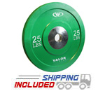 25 lb Virgin Rubber Bumper Plate X