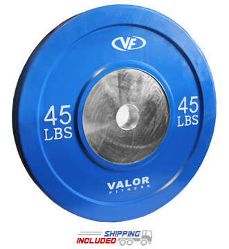 45 lb Virgin Rubber Bumper Plate X