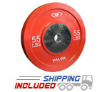 55 lb Virgin Rubber Bumper Plate X