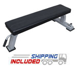 Valor Fitness DA-6 Pro Flat Utility Bench with Transport System