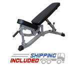 Valor Fitness DD-11 Flat /Incline Utility Bench with Transport System