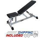 Valor Fitness DD-21 Incline / Flat Utility Bench with Transport Wheels