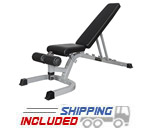 Valor Fitness DD-4 Flat-Incline-Decline Utility Bench for Dumbbell Workouts