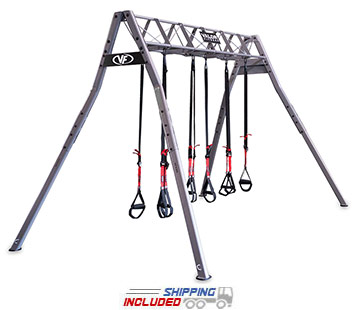 Valor Athletics VFX-SS Suspension Training Station for Group Fitness with a CrossCore180, TRX or Jungle Gym
