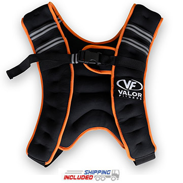 Valor Fitness EH-18 Weighted Fitness Vest for Cross-Training Workouts