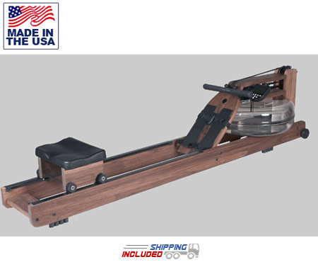 Classic Black Walnut Indoor Rowing Machine by Water Rower