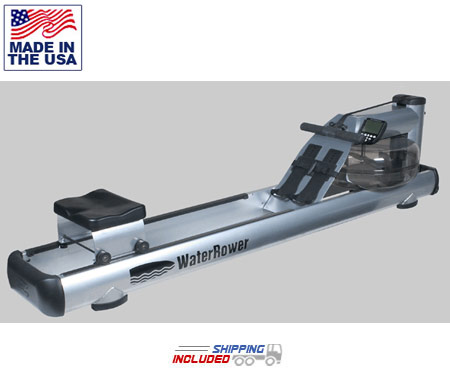 M1 LoRise Rowing Machine with Aluminum Frame by Water Rower