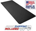 FitnessMat Black 6 Foot Premium Exercise Mat