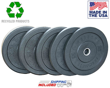 Recycled Crumb Rubber Bumper Plate Sets for Olympic Weightlifting