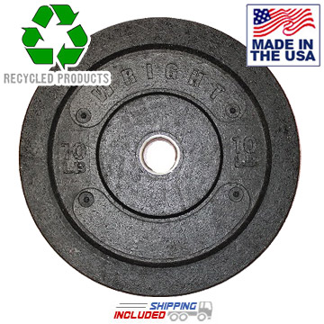 Recycled Crumb Rubber Bumper Plates