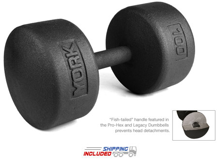 Legacy Solid Round Pro Dumbbell 55-100 Set