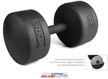 Legacy Solid Round Pro Dumbbell 105-125 Set