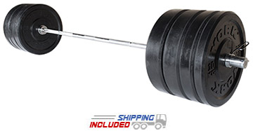 York Barbell 160 kg. Bumper Plate Training Set