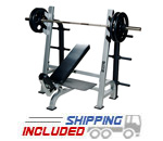 York Barbell Olympic Incline Weight Lifting Bench with Gun Rack Uprights