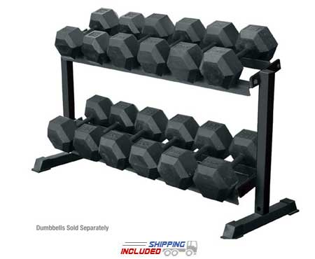 2 - Tier Pro Hex Dumbbell Rack