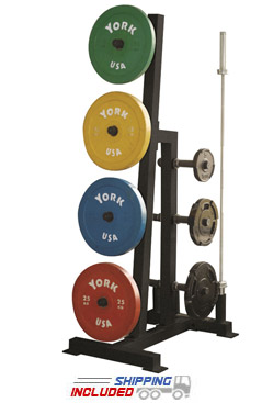 York Barbell 69142 Single-Sided Bumper Plate Tree