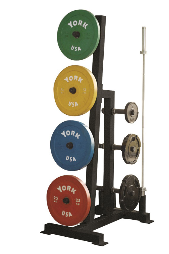 york barbell weight. york barbell 69142 single-sided bumper plate tree weight y