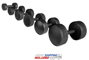 York Legacy Round Cast Iron Dumbbells