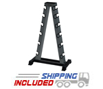 York Barbell 69002 A-Frame Dumbbell Rack with Wear Guards