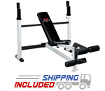 York Barbell 48005 Olympic Combo Bench with Leg Developer for Home Gyms