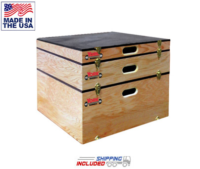 York Barbell Stackable Plyo Box Set