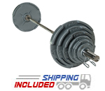 York Barbell Quad Grip Barbell Set