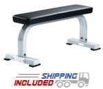 York Barbell ST Flat Utility Weight Lifting Bench for Dumbbells &  Barbells
