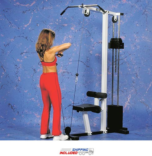 Yukon Fitness CLM-150 Competitor Lat Machine with Weight Stack