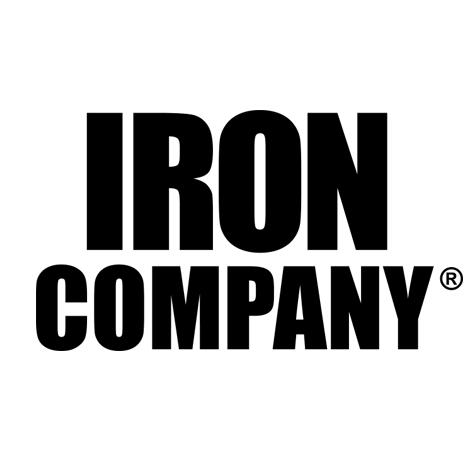 IRON COMPANY 34mm hard chrome Urethane Dumbbell Handle with diamond knurling