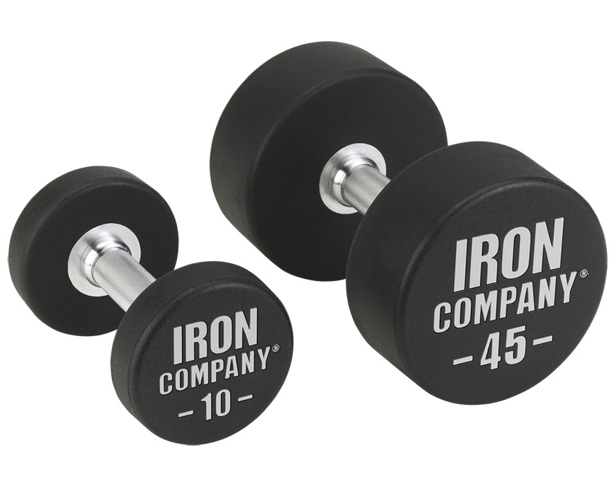 IRON COMPANY Best Solid Steel Urethane Dumbbells