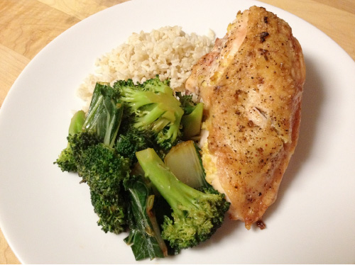 Practice well balanced nutrition including protein, carbohydrates and vegetables for maximum training results.