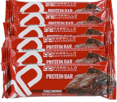 Parrillo performance protein bars for on-the-go nutrition.