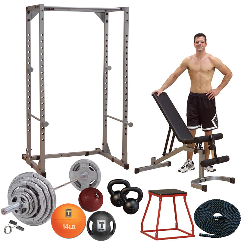 Body Solid Garage Gym Equipment Package for Functional Strength Training