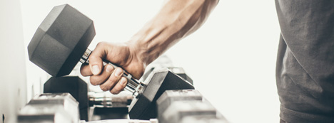 Dumbbell exercises to gain muscle and strength in home or commercial gyms