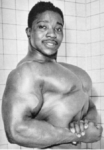 Leroy Colbert world's biggest and best biceps and Joe Weider employee